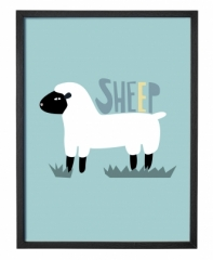 Affiche encadrée Sheep