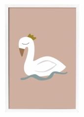 Affiche encadrée Cygne Swan