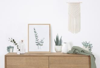 Affiche encadrée Tiges d'eucalyptus