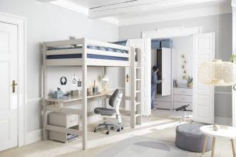 Bureau lit mezzanine Classic 90x190