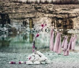 Guirlande Pompom - Rose