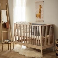 Lit bébé évolutif Linea Hêtre