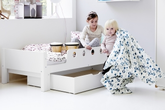 Lit enfant extensible White 140-190