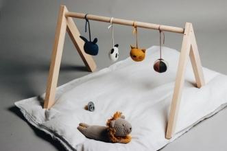 Portique d'éveil Wooden Playgym sans jouets