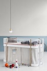 Rideau pour Lit mezzanine mi-hauteur Wood