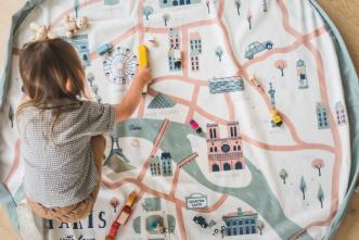 Sac tapis de jeu Paris map