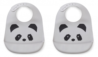 Bavoir Tilda Panda - Lot de 2