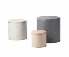 Boîtes Confetti Tin-Lot de 3