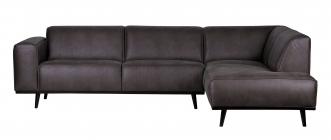Canapé d'angle droit Stan Eco Cuir