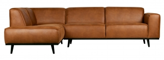 Canapé d'angle gauche Statement Cuir recyclé