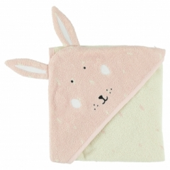 Cape de bain Lapin Mrs Rabbit 75x75