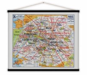 Carte vintage Paris Capitale