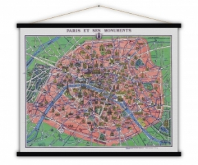 Carte vintage Paris et ses Monuments