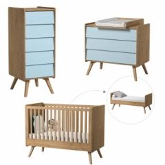 Chambre bébé Vintage évolutive 70x140