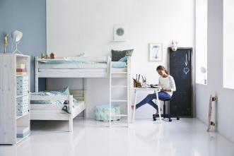 Bureau Enfant évolutif Study Vernis + tiroir