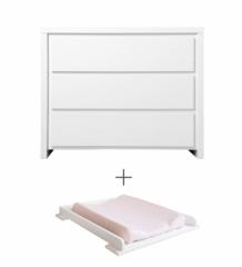 Commode 3 tiroirs Camille + plan à langer