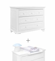 Commode 3 tiroirs Charlotte + plan à langer