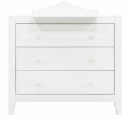 Commode 3 tiroirs Evi + plan à langer