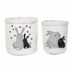 Corbeille de Rangement Rabbit - Lot de 2