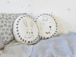 Coussin Portraits Lapin Rabbit