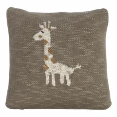 Coussin tricoté Girafe