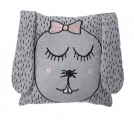 Housse de coussin Little Ms. Rabbit