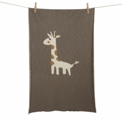 Couverture Tricot 100x160 Girafe
