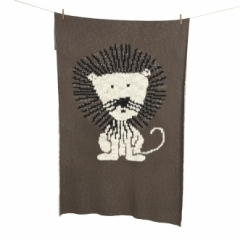Couverture Tricot 100x160 Lion