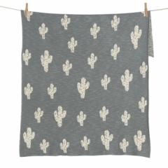 Couverture Tricot On the Go 85x100 Cactus