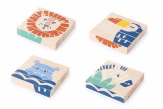 Cubes en bois Wild Animals
