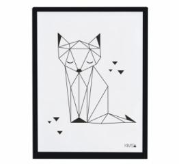 Affiche encadrée Origami Fox