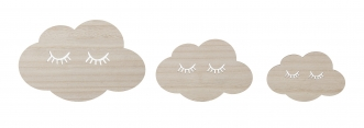 Déco murale Nuages endormis - Lot de 3