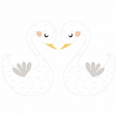 Sticker XL Duo de Cygnes