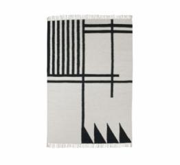 Tapis Kelim Black lines 140x200