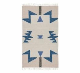 Tapis Kelim Blue Triangles 80x140