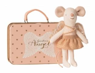 Doudou souris Ange Gardien dans sa valise