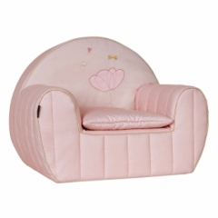 Fauteuil club + coussin Mademoiselle