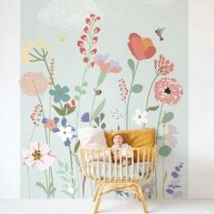 Fresque de Papier peint Fleurs des champs