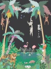 Fresque de Papier peint Jungle
