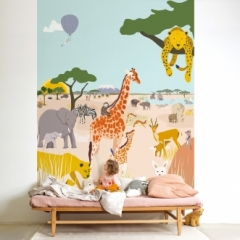 Fresque de Papier peint Safari