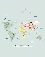 Fresque de Papier peint World Map