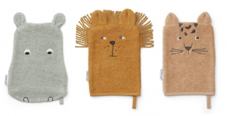 Gant de toilette Sylvester Safari - Lot de 3
