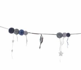 Guirlande Pompom - Bleu