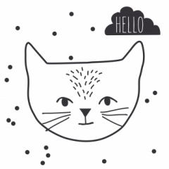 Just a Touch-Hello cat