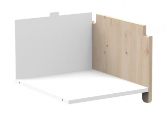 Kit vertical penderie pour kit latéral Asymetry