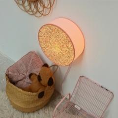 Lampe Liberty - contour rose poudré