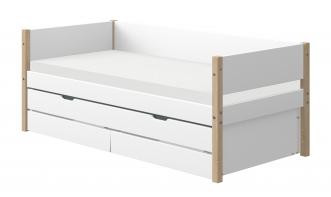 Lit banquette évolutif Nor 90x190 + tiroir lit et tiroirs