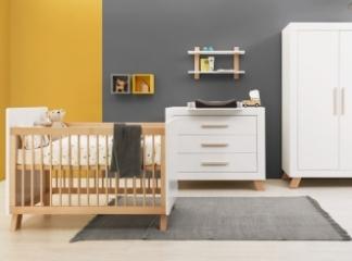 Lit bébé évolutif Lisa 60x120-90x200