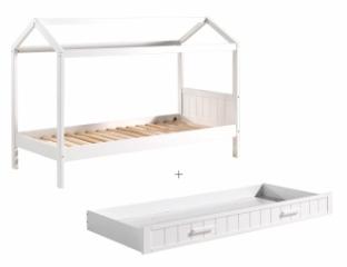 Lit Cabane Céleste 90x200 + tiroir lit