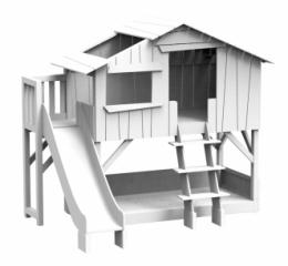 Lit cabane superposé + Toboggan complet